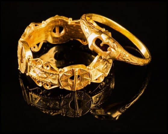 Gold Middle Age Rings Detectorist